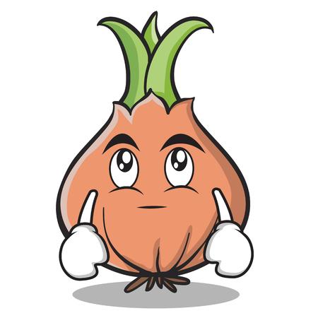 Eye roll onion character cartoon Illustration