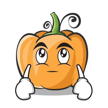 Eye roll pumpkin character cartoon style