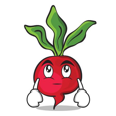 Eye roll radish character cartoon collection Illustration