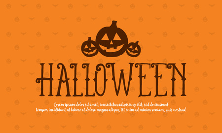 Halloween collection background style design