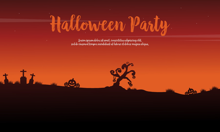 Halloween party celebration background design