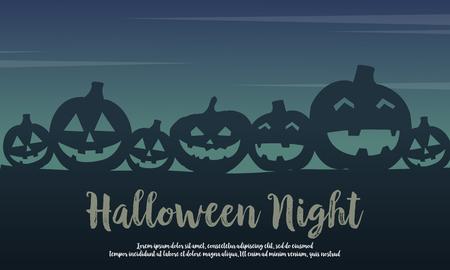 Halloween with pumpkin silhouette design Ilustrace