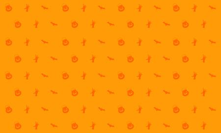 Halloween on orange background style vector illustration