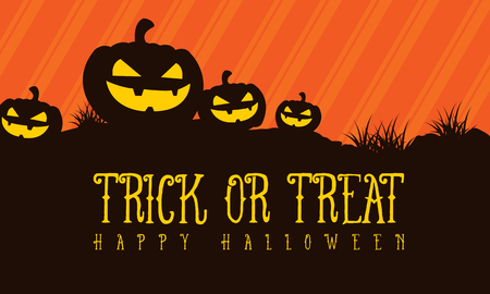 Trick or treat Halloween background