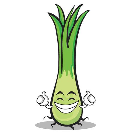 Proud leek character cartoon Stock Illustratie