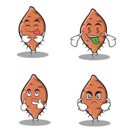 Yam character set cartoon collection stock