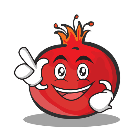 Have an idea pomegranate cartoon character style