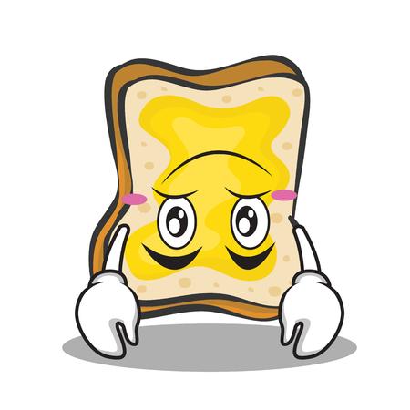 Upside down face bread character cartoon
