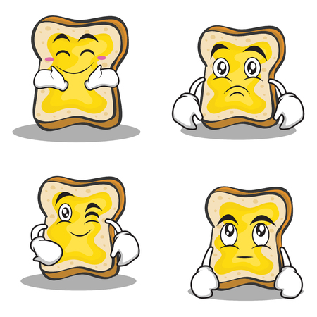 bread character cartoon set collection