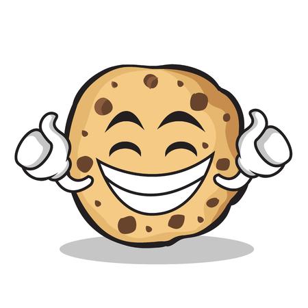 Proud sweet cookies character cartoon 일러스트