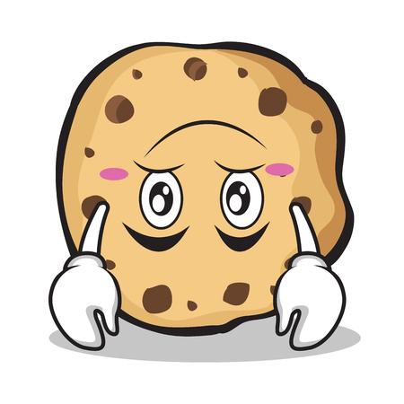 Upside down sweet cookies character cartoon