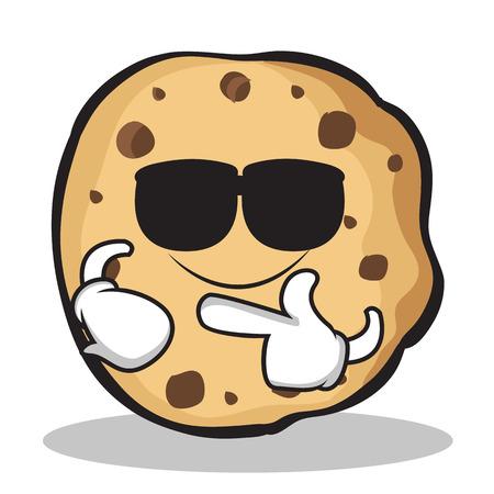 Super cool sweet cookies character cartoon illustration. Çizim