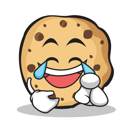 Joy face sweet cookies character cartoon