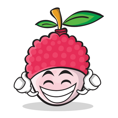 Proud emotion illustrated in lychee cartoon character style.