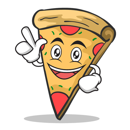 Have an idea pizza character cartoon vector illustration