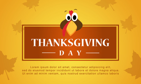 fall leaves: Thanksgiving day autumn background stock