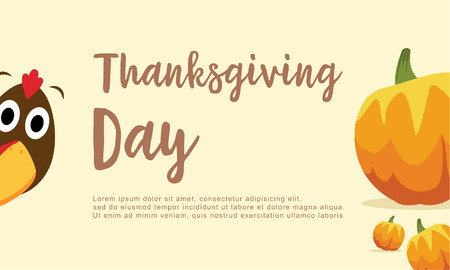 dinner party: Greeting card Thanksgiving day collection vector illustration