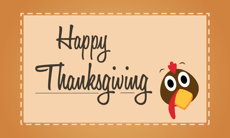 fall leaves: Happy Thanksgiving turkey background card
