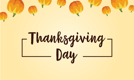 fall leaves: Thanksgiving day background card style