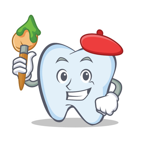 Artist tooth character cartoon style