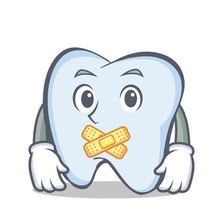 silent: Silent tooth character cartoon style