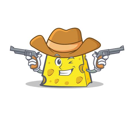 Cowboy cheese character cartoon style