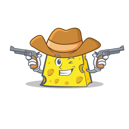 Cowboy cheese character cartoon style