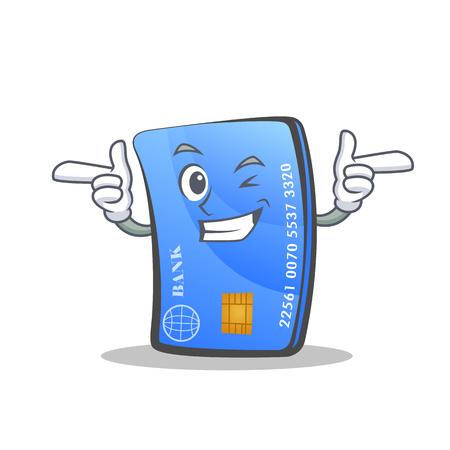 Wink credit card character cartoon