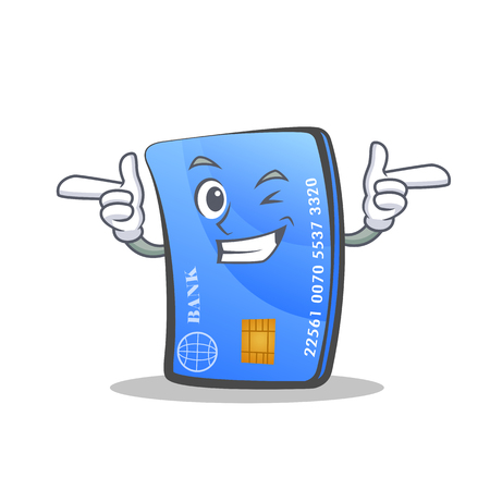 Wink credit card character cartoon