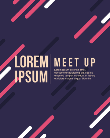 meet up: Meet up card cool colorful background vector illustration