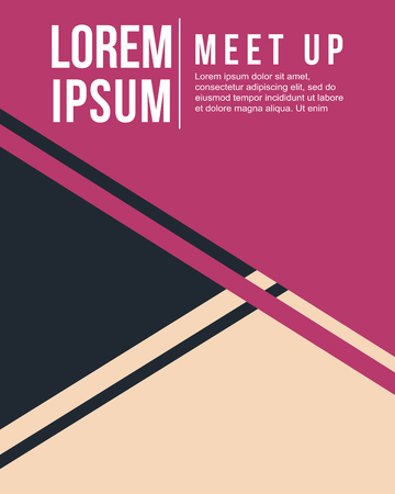 meet up: cool colorful background design meet up card vector illustration
