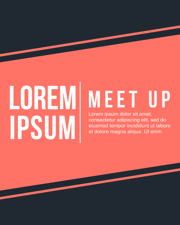 meet up: Cool colorful background collection meet up card