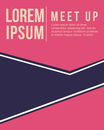 meet up: cool colorful background meet up card design vector art
