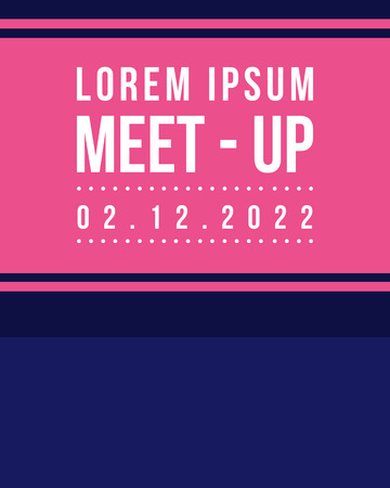 meet up: Geometric cover design meet up collection style vector art
