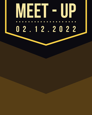 meet up: Geometric cover design meet up card brown character