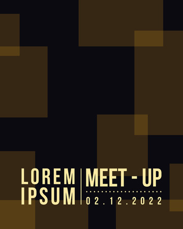 meet up: Geometric cover design card meet up style vector illustration