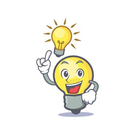 Have an idea light bulb character cartoon
