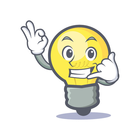 Okay call me light bulb character cartoon
