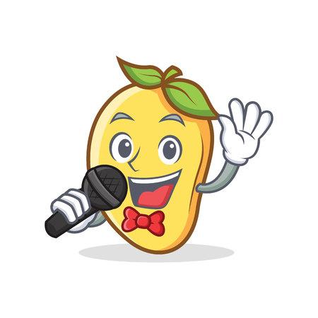カラオケ マンゴー文字漫画のマスコット。