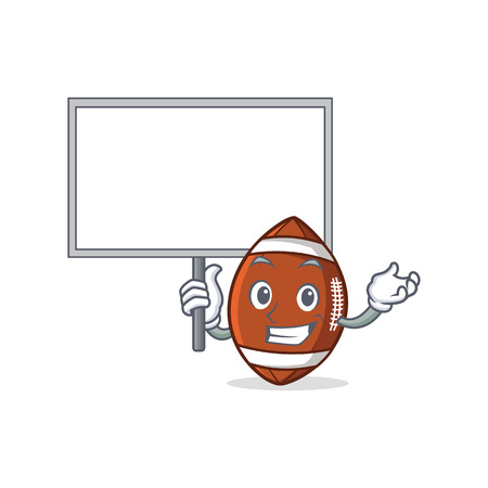 Bring board American football character cartoon vector illustration