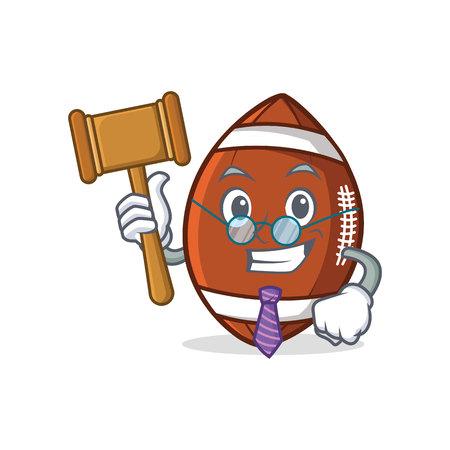 Judge American football character cartoon vector illusatration.