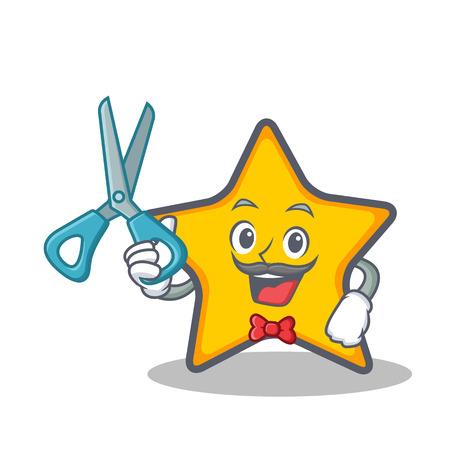Kapper ster karakter cartoon stijl vector kunst Stock Illustratie