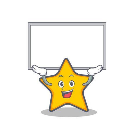 Op het bord ster karakter cartoon stijl vector kunst Stock Illustratie