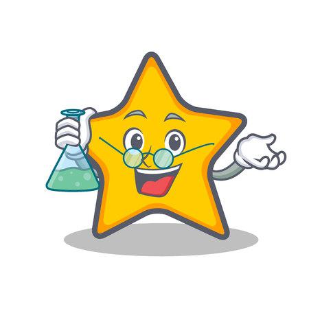 Professor star character cartoon style vector illustration