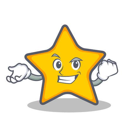 Succesvolle ster cartoon stijl vectorillustratie