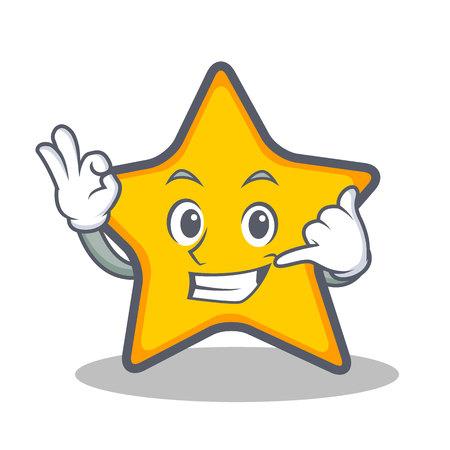 Noem me sterrenbeeld cartoonstijl Stock Illustratie