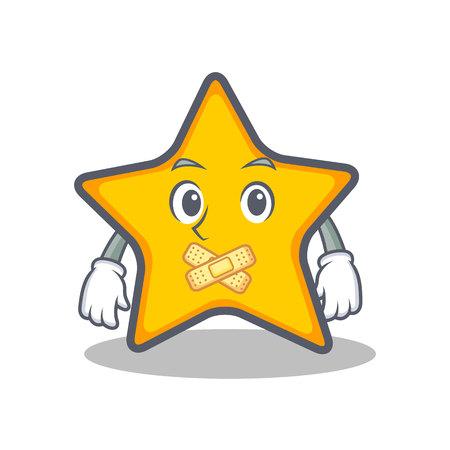 Stille ster karakter cartoon stijl vector illustratie