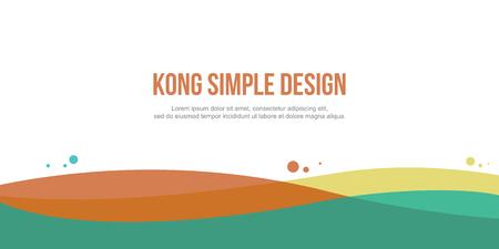 Colorful abstract header website design vector art Illustration