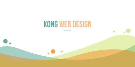 website header: Abstract background for header website beauty style vector art