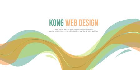 website header: Header website abstract design elegant style vector illustration